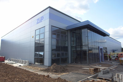 Industrial building refurbishment, roofing and cladding Zip Textiles